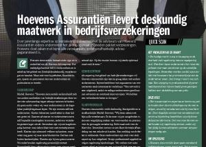 May-lisa de Laat schreef artikel over Hoevens Assurantien voor Ondernemersbelang