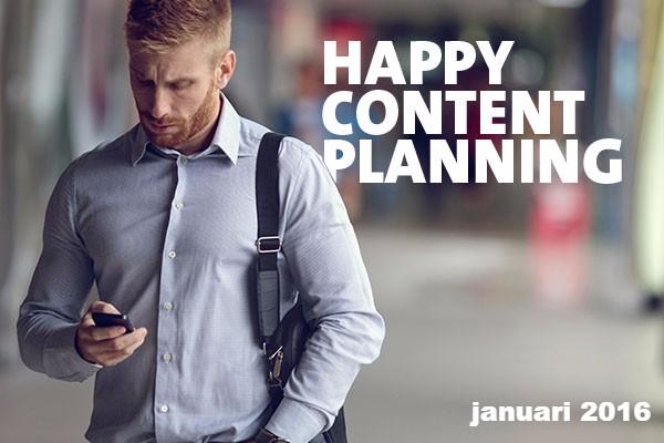 content planning centraal in nieuwsbrief januari 2016 van De Laat Communicatie