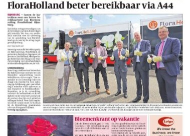 Bloemenkrant, Flora Holland, ontsluiting A44, Uitgeverij Verhagen