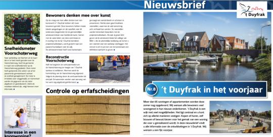 Nieuwsbrief 't Duyfrak, Gemeente Katwijk, May-lisa de Laat, Henny Star, Dierenweide