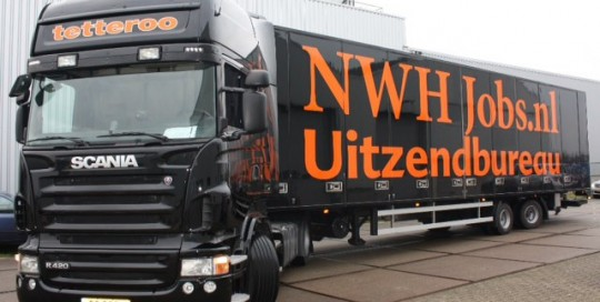 NWH Jobs, redigeren webteksten, Han's On Board