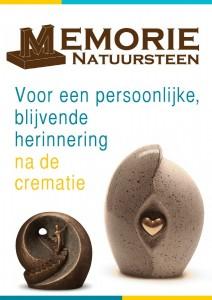 voorkant brochure Memorie Natuursteen met tekst van Mayu-lisa de Laat De Laat Communicatie