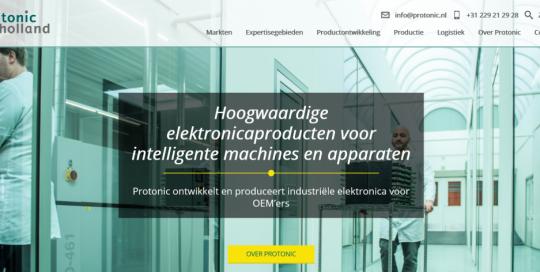 May-lisa de Laat schreef de webteksten voor de nieuwe website van Protonic Holland.