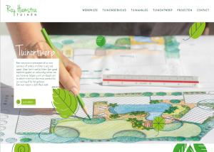 Homepage website Roy Hiemstra Tuinen met teksten van May-lisa de Laat