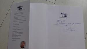 Persoonlijk dankwoordje van Sigrid van der Marel aan May-lisa de Laat voor tekstredactie
