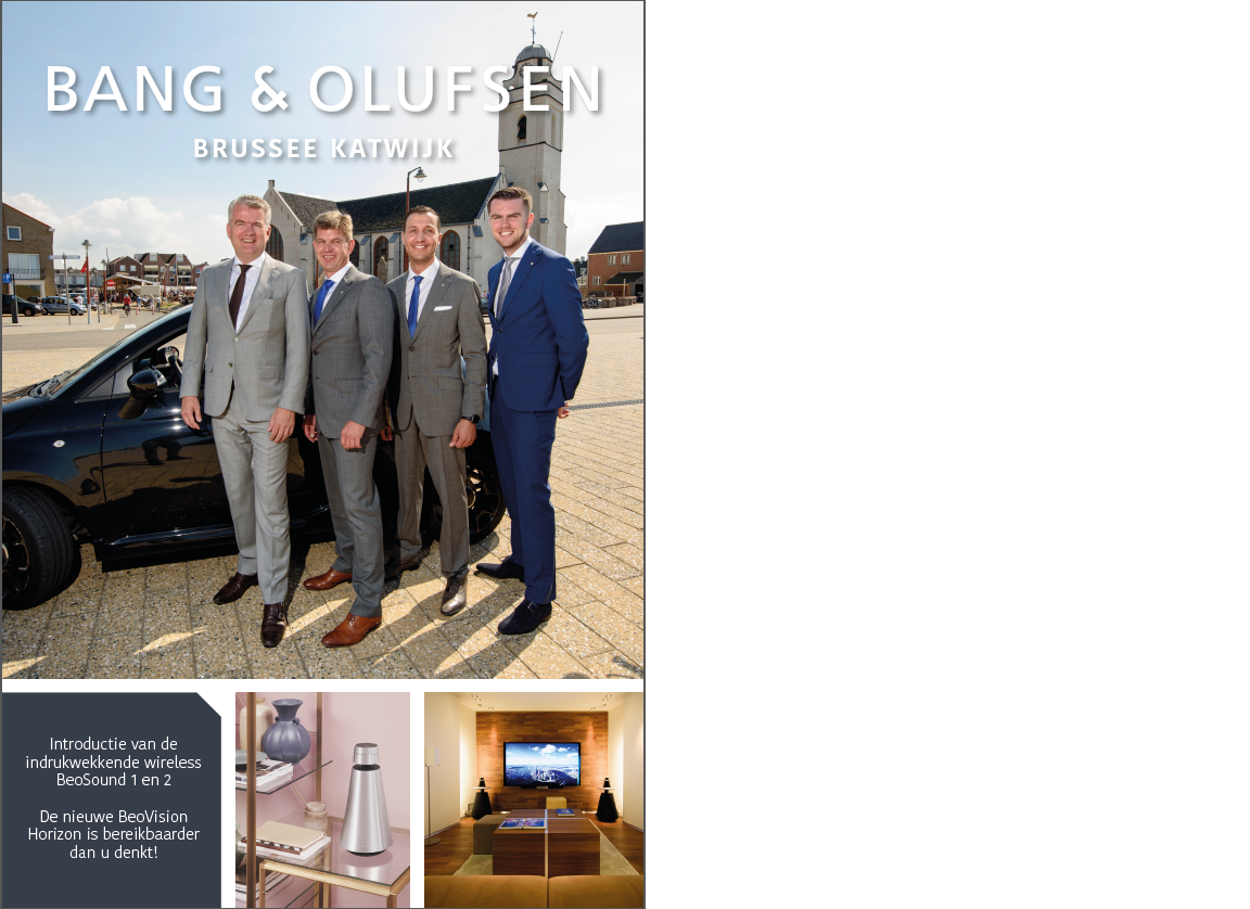 Brochure Bang & Olufsen Brussee met tekst May-lisa de Laat