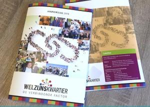 May-lisa de Laat schreef alle teksten voor het jaarverslag Welzijnskwartier 2016.