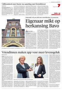 app SAM artikel May-lisa de Laat in Leidsch Dagblad 6 dec 2017