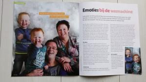 May-lisa de Laat schrijft voor magazine van Ronald McDonald Huis.