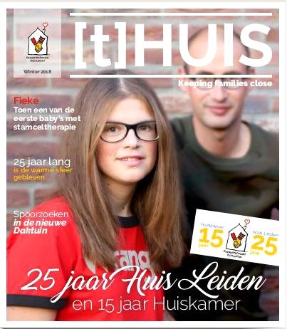 May-lisa de Laat nam deel in redactie jubileumuitgave (t)Huis Leiden en schreef artikelen.