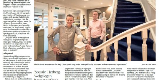 Intterview May-lisa de Laat met Martin Noort en Cees van der Meij Herberg Welgelegen 5 jaar