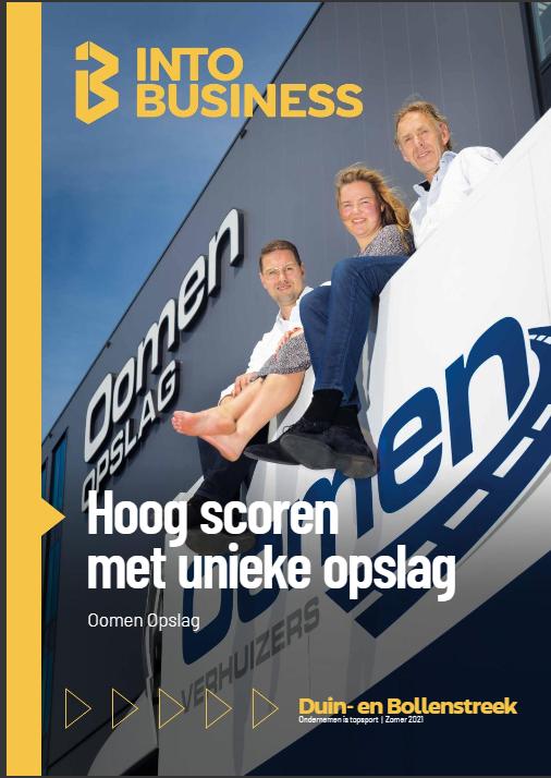 Coverstory over Oomen Opslag van deze editie van INTO business door tekstschrijver May-lisa de Laat.